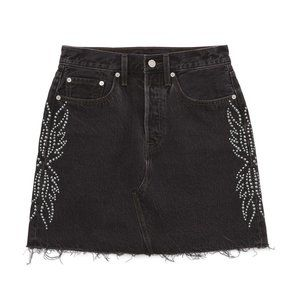 Levi's High Rise Decon Iconic Skirt Black Size 12